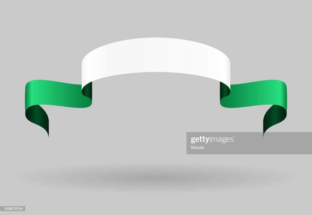Nigerian flag background. Vector illustration.