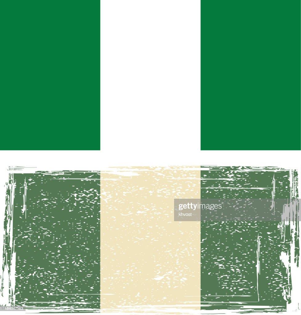 Nigerian grunge flag.