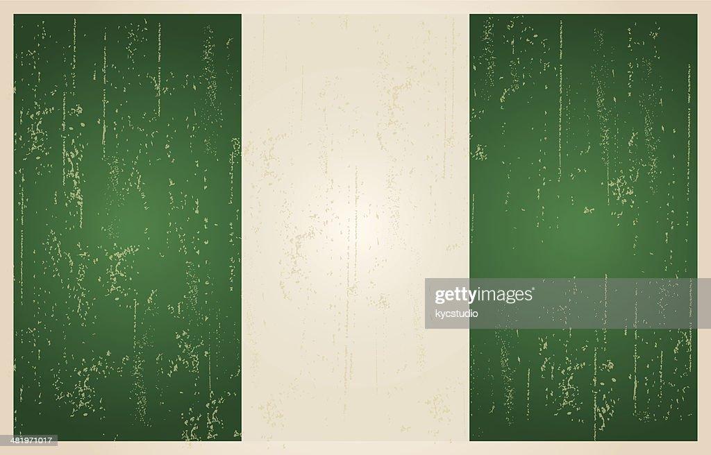 Nigerian grunge vintage flag
