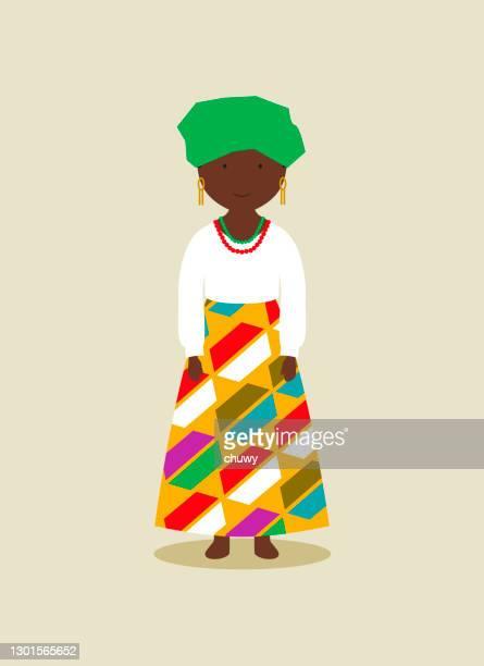 illustrations, cliparts, dessins animés et icônes de costume national nigérian pour les femmes - nigeria