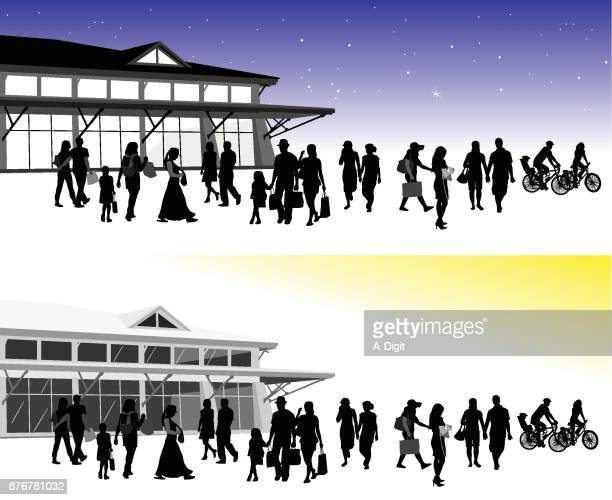 night and day vector art - pedestrian stock illustrations, clip art, cartoons, & icons