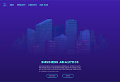 Night city landing page