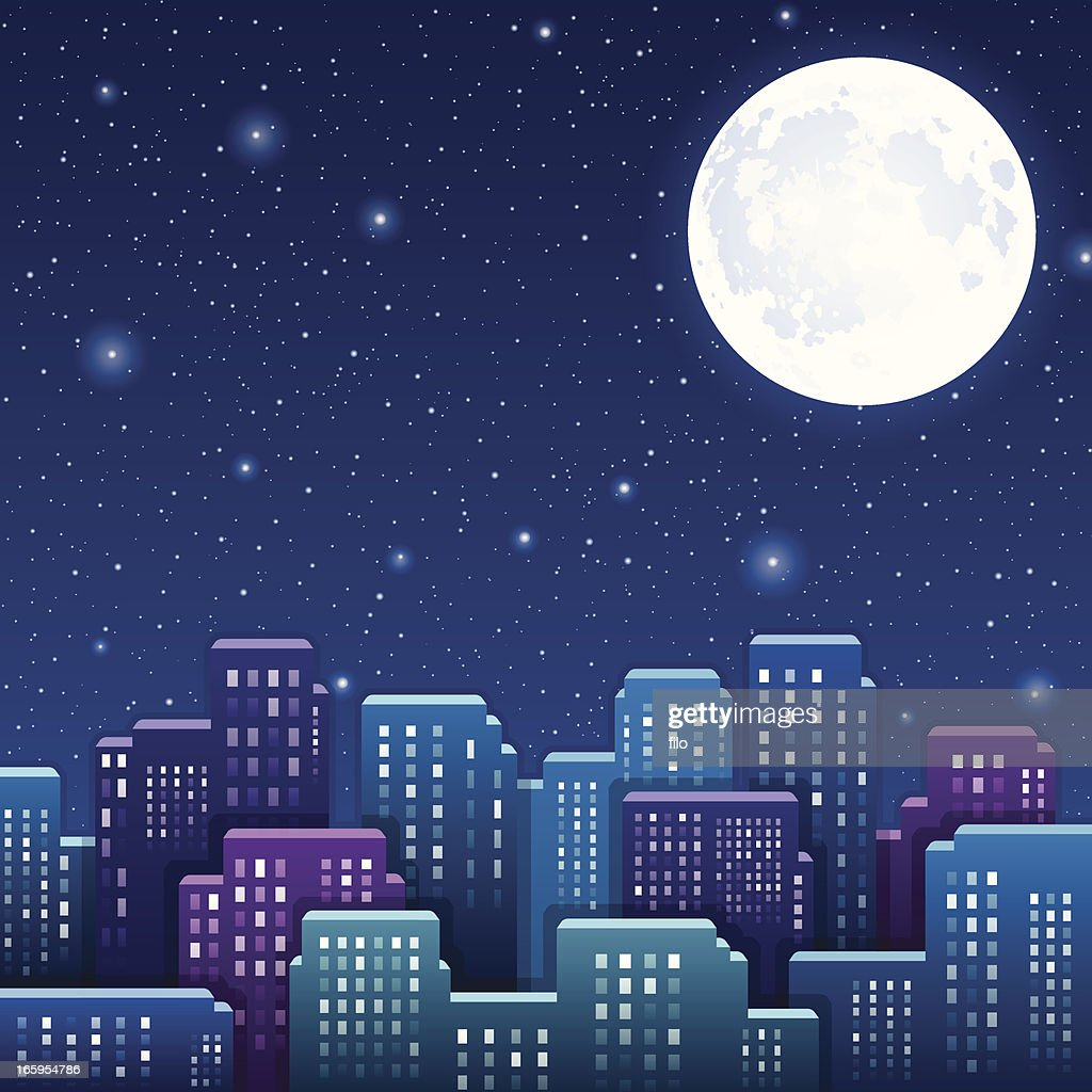 Night City : stock illustration