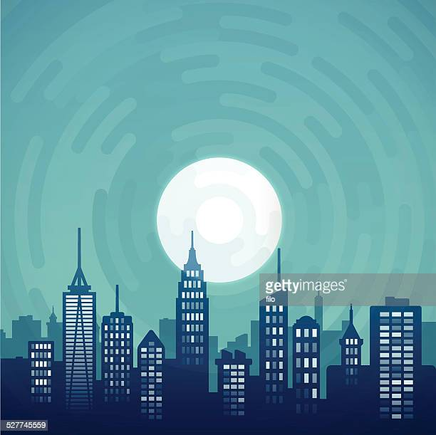 night city - atlanta stock illustrations, clip art, cartoons, & icons