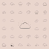 night cloud sign icon. Detailed set of Weather icons. Premium quality graphic design sign. One of the collection icons for websites, web design, mobile app