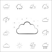 night cloud sign icon. Weather icons universal set for web and mobile