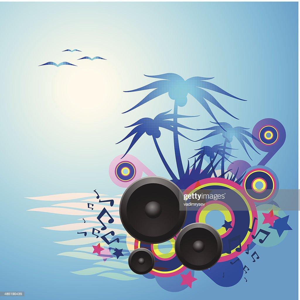 Night Disco Dance Tropical Music Flyer.