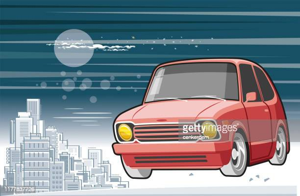 night drive - car ownership stock illustrations, clip art, cartoons, & icons