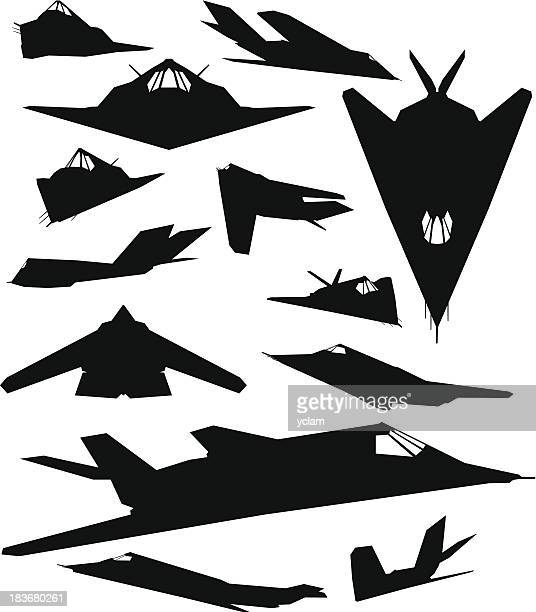 f117 night hawk - us air force stock illustrations, clip art, cartoons, & icons