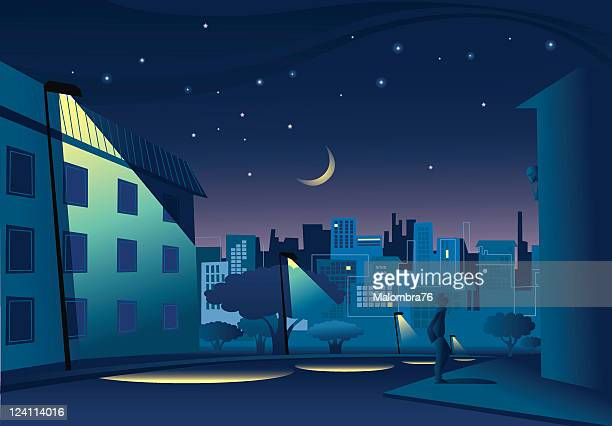 Night in town