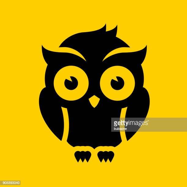 illustrations, cliparts, dessins animés et icônes de oiseau de nuit. - chouette
