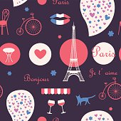 night Paris background