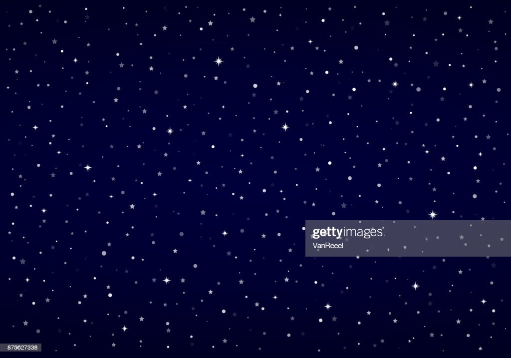 Night Sky, Snow, Stars | Vector Christmas Background