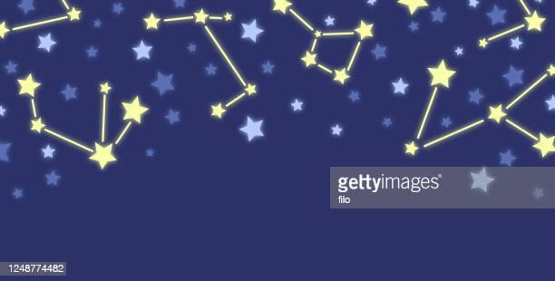 night sky stars background border - star chart stock illustrations
