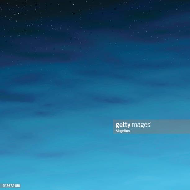 night sky with stars and clouds - ethereal stock illustrations, clip art, cartoons, & icons
