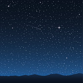 Night sky with stars. Vector illustration
