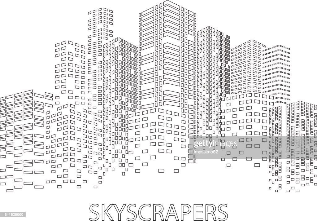 Night Skyscrapers City