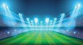 Night stadium illustration
