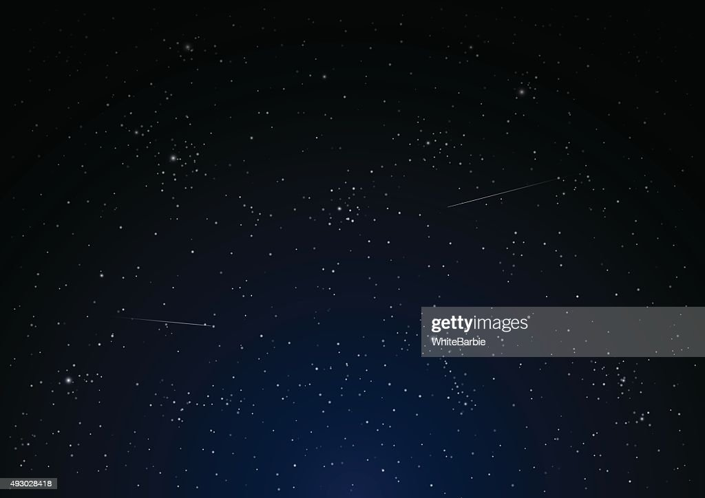 Night star sky vector.