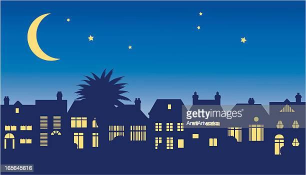 Scène de rue de nuit