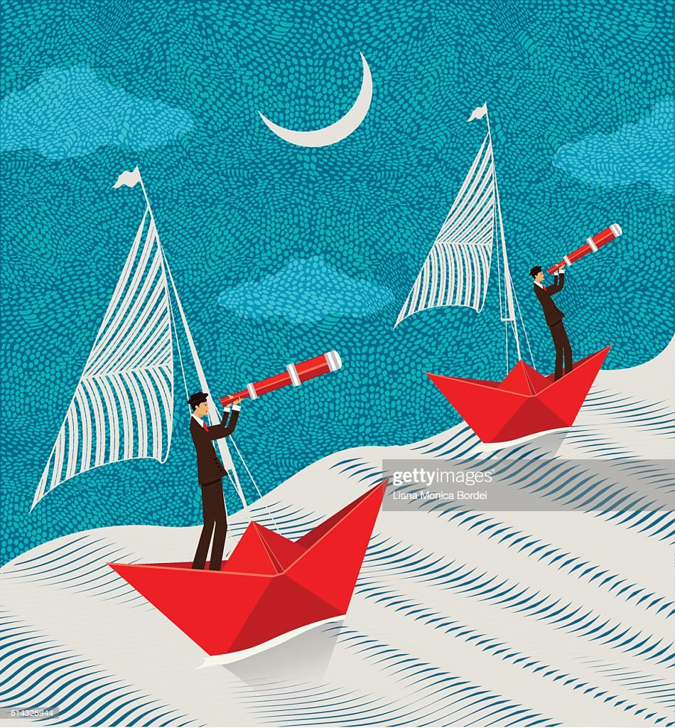 Night time search mission : Stock Illustration