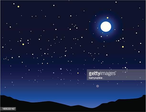night time - sky stock illustrations, clip art, cartoons, & icons