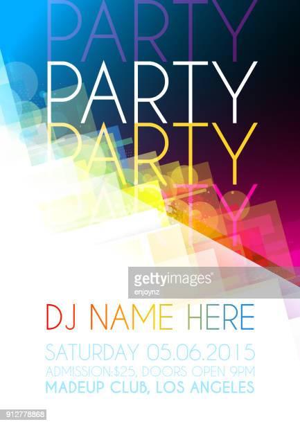 Disco Party Plakat Hintergrund