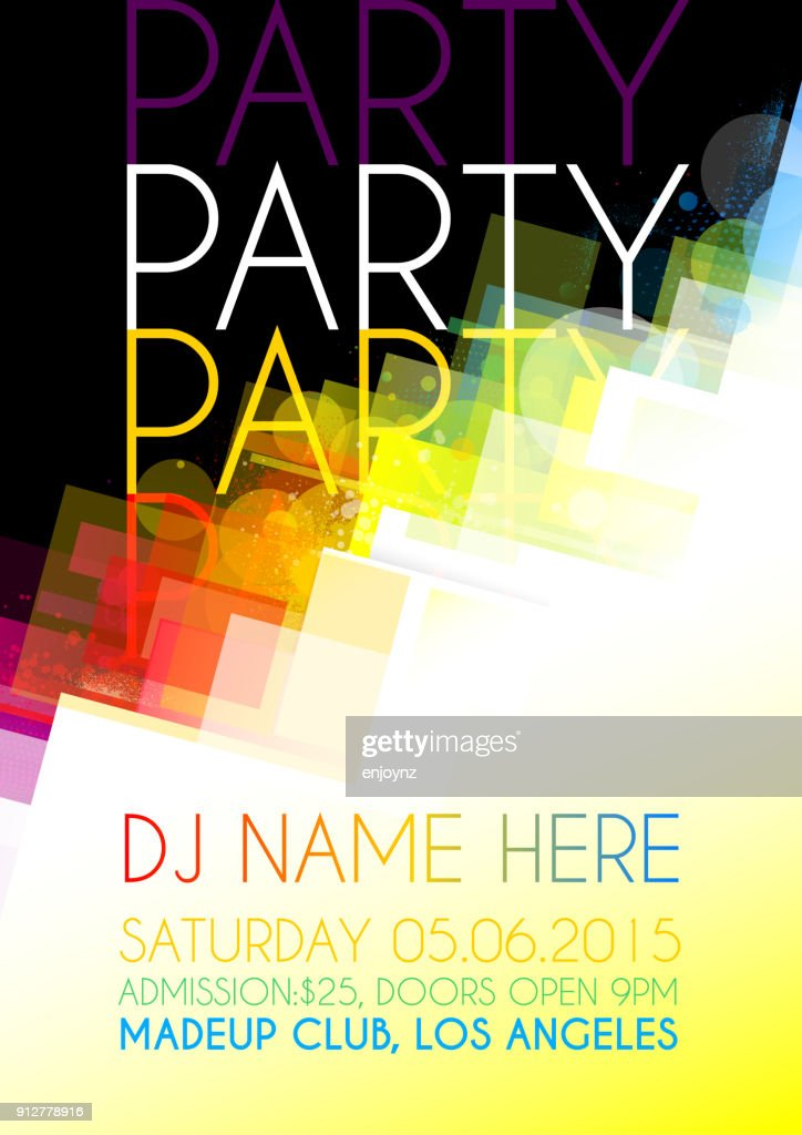 Nightclub party poster background