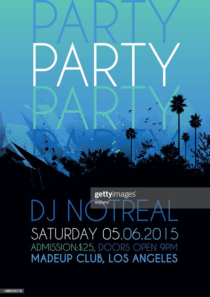 Nightclub party poster