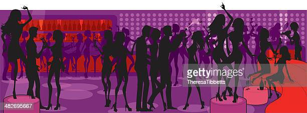 Nightclub People Silhouette