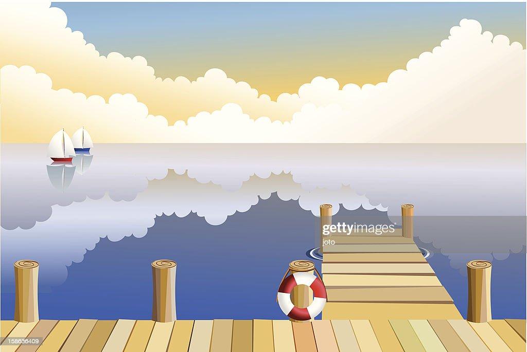 Nightfall at the pier