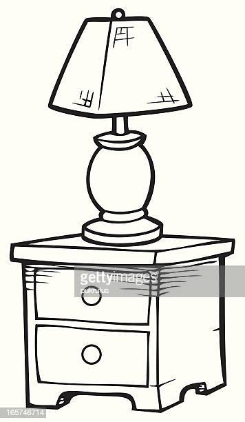 illustrations et dessins anim s de lampe de chevet getty images. Black Bedroom Furniture Sets. Home Design Ideas