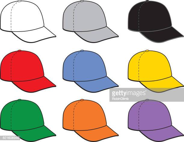 Nine Angled Baseball Caps