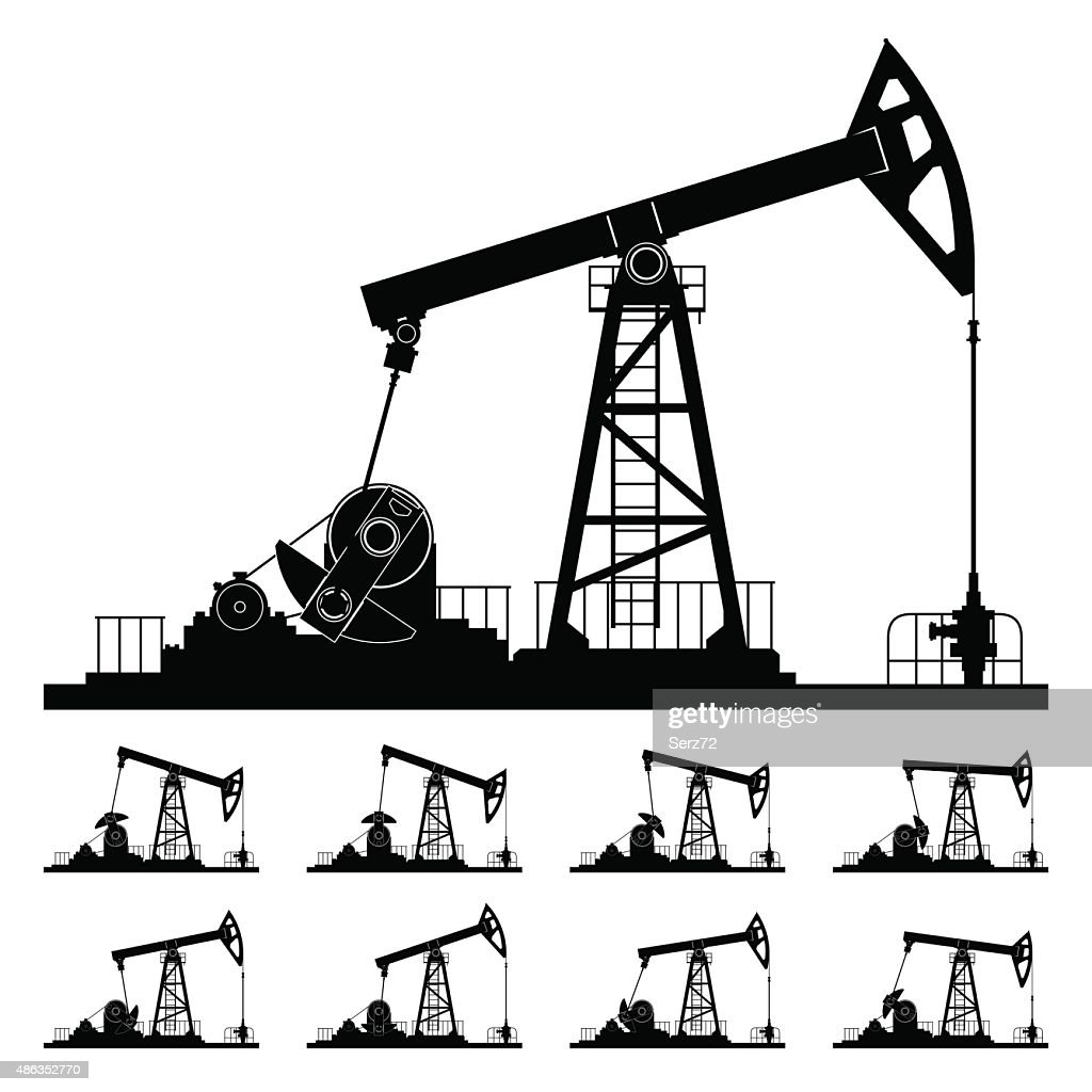 Nine Different Positions Working Oil Pumps