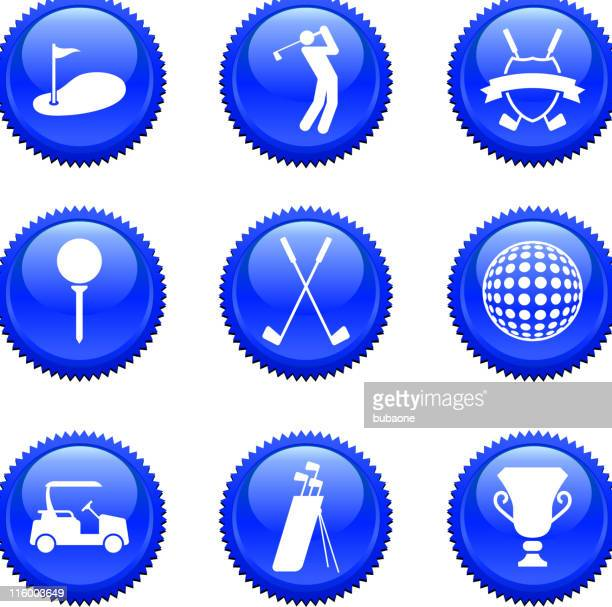 nine golf golfing royalty free vector arts buttons badges