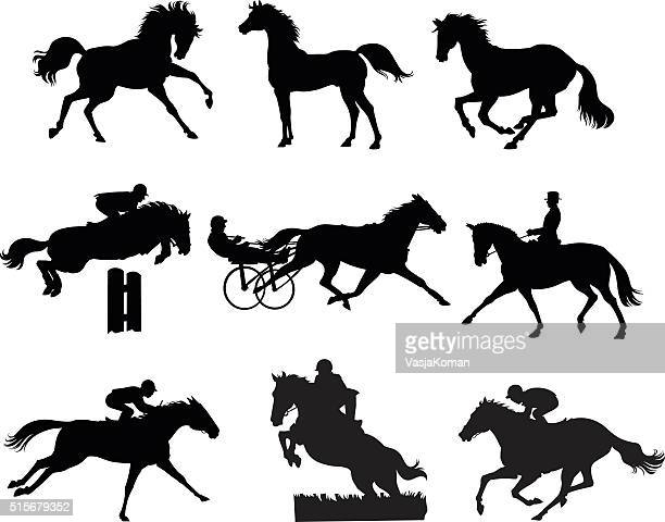 Nine Horses Silhouettes - Set