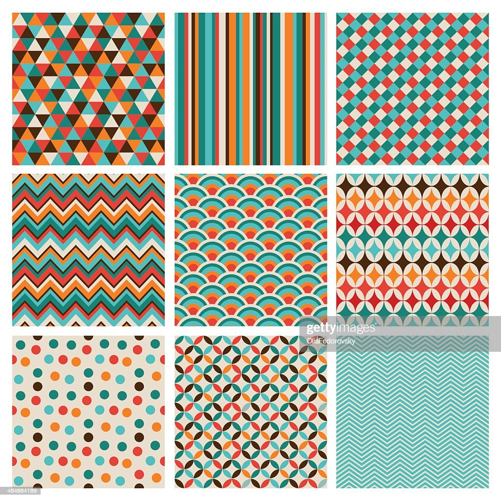 Nine squares of geometric designs