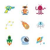 nine stylish space icons