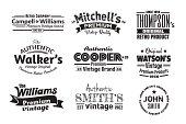 Nine Vintage Insignias