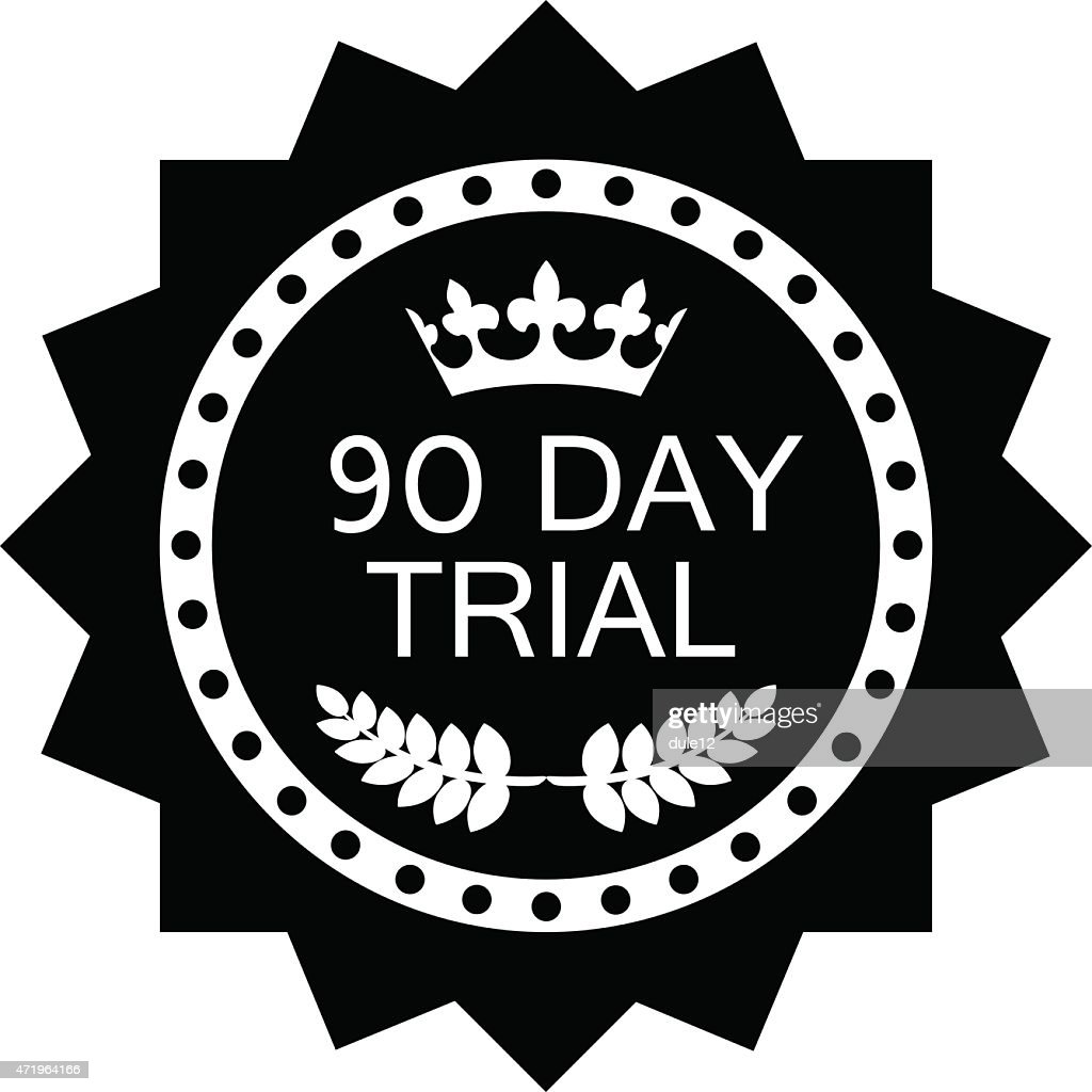 Ninety Day Trial Label