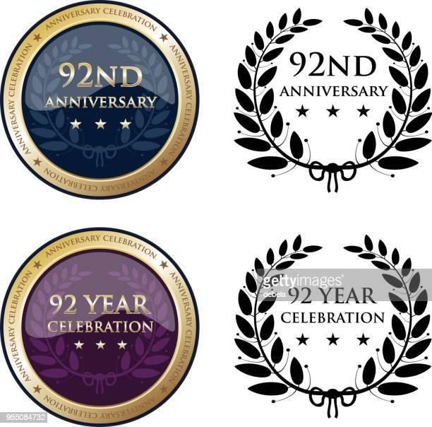 90 第 2 周年記念金目たる - 聖年点のイラスト素材/クリップアート素材/マンガ素材/アイコン素材