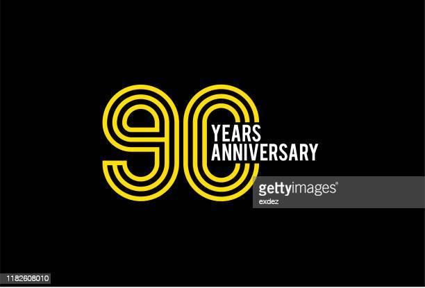 90周年記念デザイン - 数字の90点のイラスト素材/クリップアート素材/マンガ素材/アイコン素材