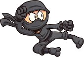 Ninja flying kick