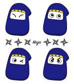 Ninja Icon set - cute type