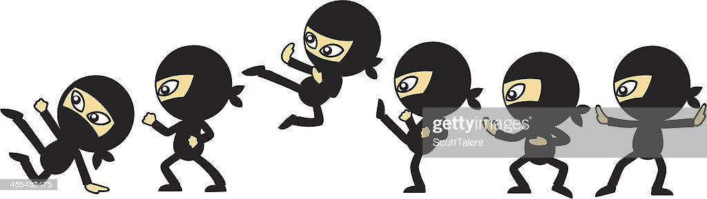 ninja moves vector art getty images