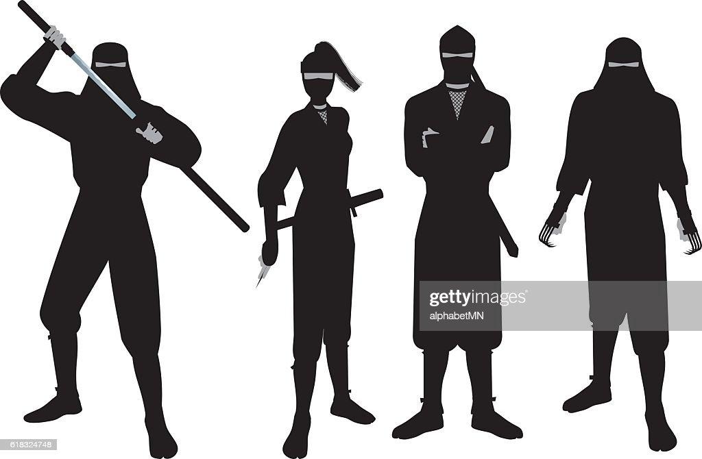 Ninja. 'Ninja' is that of the Japanese spy and intelligence personnel.