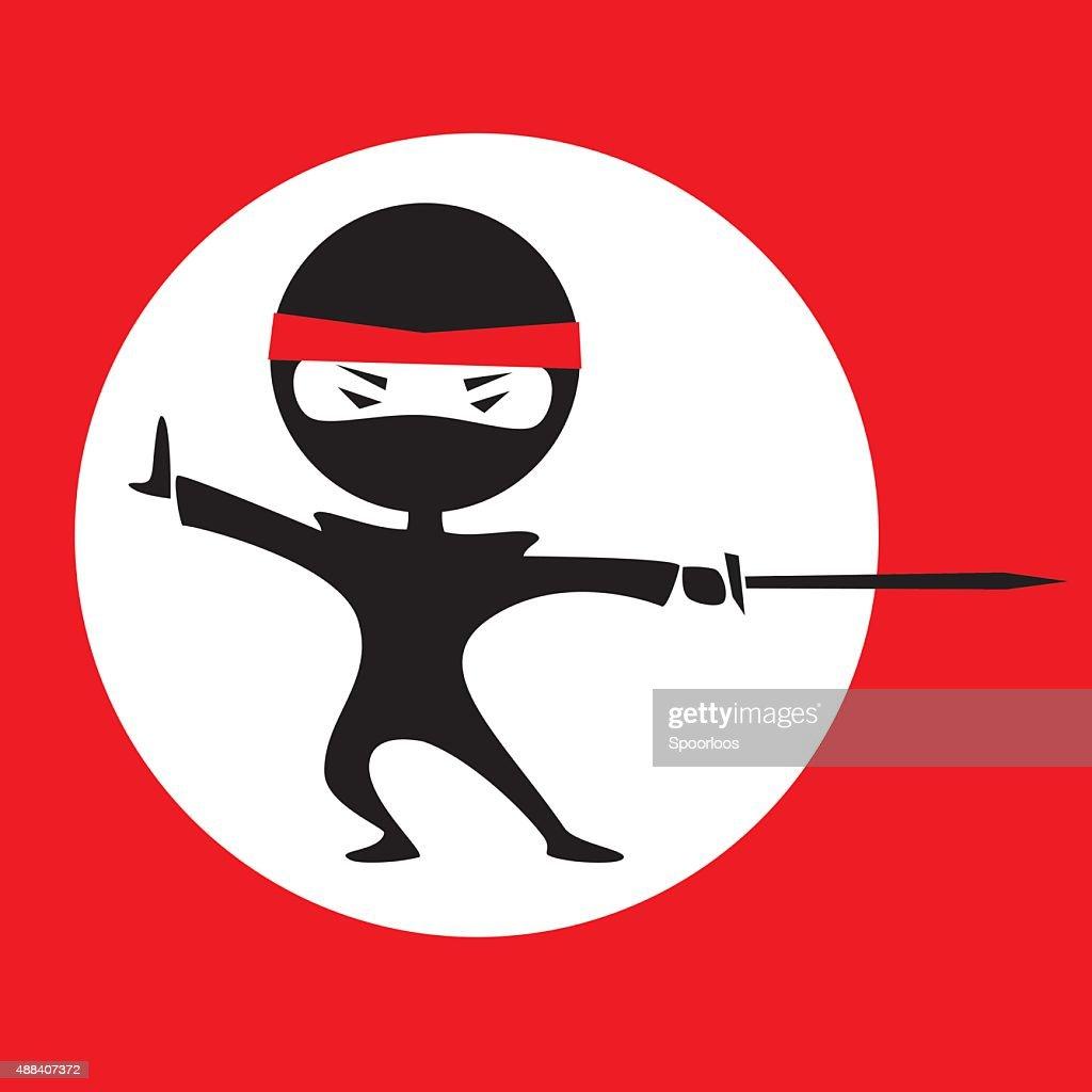 Ninja white circle