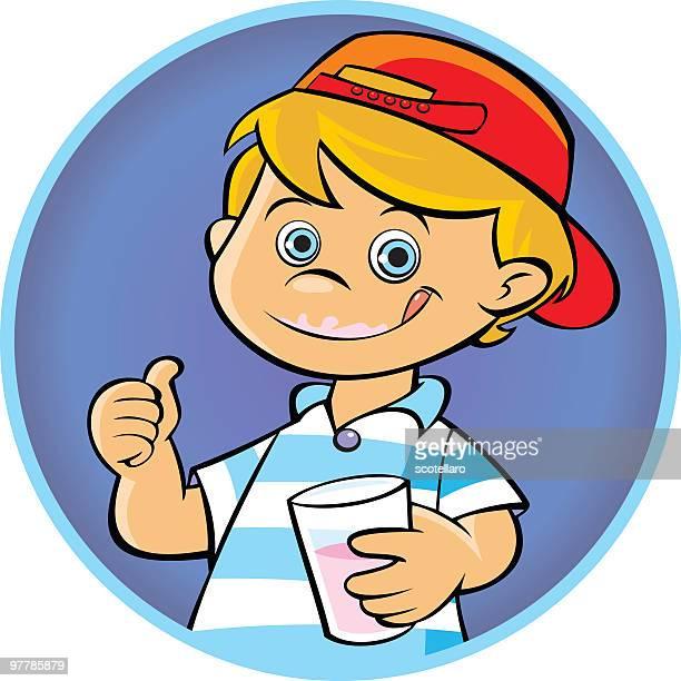 niño bebiendo - licking stock illustrations, clip art, cartoons, & icons