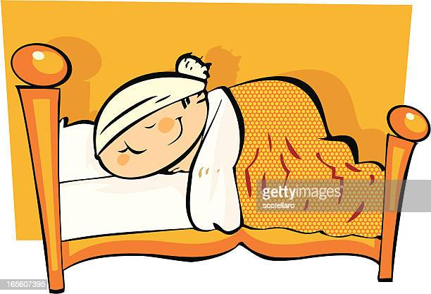 niño durmiendo - blanket stock illustrations, clip art, cartoons, & icons