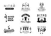 nitro cold brew coffee icons design
